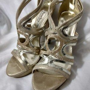 Charles Gold Shiny Heels